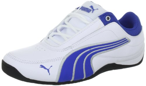 Puma Drift Cat 4 L Jr 303979, Unisex - Kinder Sneaker, Weiss (white-olympian blue-puma 08), EU 33 (UK 1) (US 2) (Puma Drift Cat Ii)