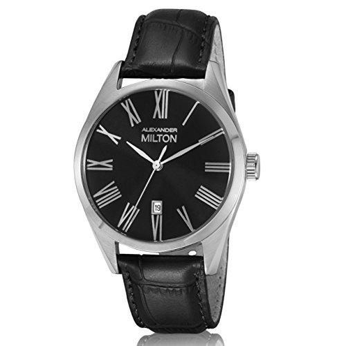 ALEXANDER MILTON - montre homme - PLUTUS, noir/argente