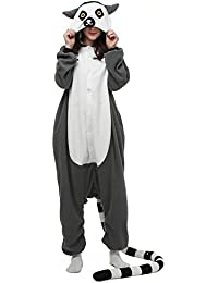 DELEY Unisexe Kigurumi Animal Adulte Vêtements De Nuit Chaude Onesies Pyjama Cosplay Homewear Anime Costume