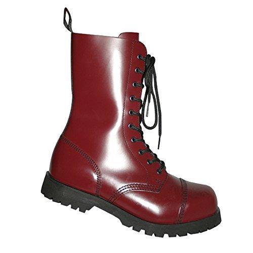 Boots & Braces - 10-Loch Stiefel Cherry Rot Größe 42 (UK 8)
