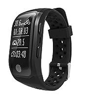 Pulsera Actividad Pulsómetro y Podómetro con Contador de Pasos,monitor de ritmo cardíaco,Notificación de mensajes,Control de Sueño,Contador de Calorías Pulsera Deporte para Android y teléfono móvil iOS