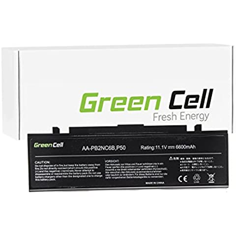 Green Cell® Extended Serie Notebook Batteria per Portatile Samsung NP-R710-AS01 (6600mAh)