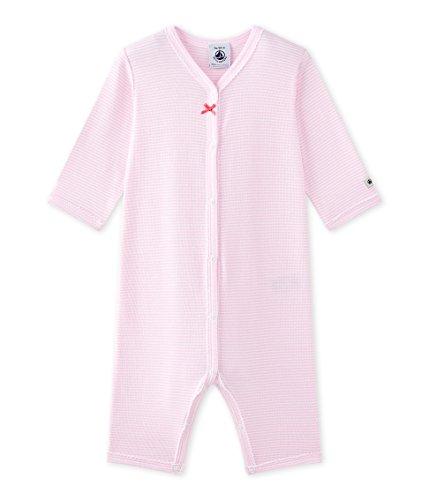 Petit Bateau Petit Bateau Baby-Mädchen Schlafstrampler DORS BIEN SANS Pieds 27349, Mehrfarbig (Babylone/Ecume 85), 104 (Herstellergröße: 4ans/104cm)