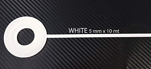 Quattroerre 10008 Strisce Adesive Rotolo, Bianco, 10 Metri x 5 Mm