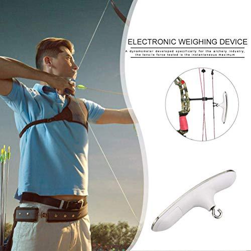 Bogenschießen Elektronische Waage | Digital Bow Bogenschießen Skala Instrument Test Tool für Compoundbogen Recurve Bow | 50kg -