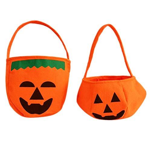 Toyvian Halloween Candy Bucket Kids Süßes oder Saures Süßes Handtaschen Süßes Geschenk Taschen 6 Stück -