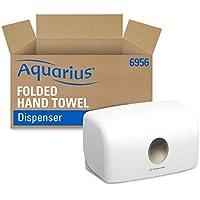 Aquarius 6956 Distributeur d'essuie-mains Multifold, Installation murale, Feuille à feuille, Couleur : Blanc, 06956000