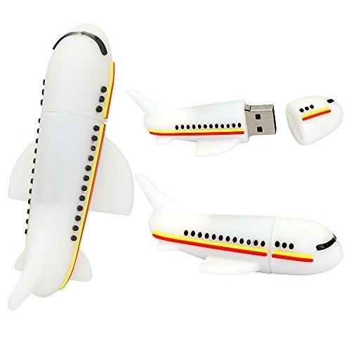 Neuheit-Flugzeug-Form 16GB USB-Blitz-Antrieb-Kühler Stift-Antriebs-Gedächtnis-Stock-Flugzeug-Blitz-Antrieb Netter Thumb-Antrieb U Disk