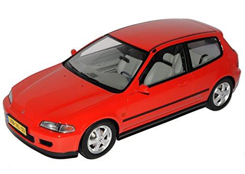 Honda Civic 3 Türer Hatch Rot 5. Generation 1991-1995 limitiert 1 von 300 1/18 Triple 9 Modell Auto mit individiuellem Wunschkennzeichen (Honda Civic Hatch)
