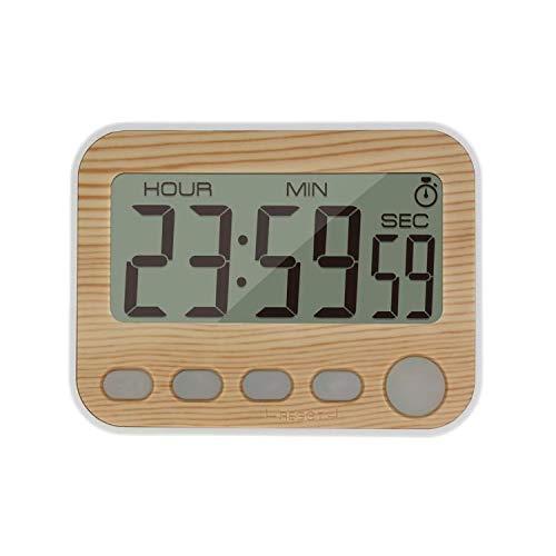 Jayron - Reloj despertador digital con temporizador de cocina Burlywood