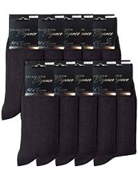 baef3c16bf4 FIL D  ÉCOSSE Lot de 4 à 8 Paires Chaussettes Homme Collection Élégance  100% Coton Coutures Plates-E (4