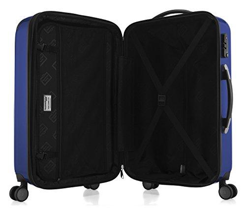 HAUPTSTADTKOFFER - Alex - NEU 4 Doppel-Rollen Hartschalen-Koffer Koffer Trolley Rollkoffer Reisekoffer, TSA, 65 cm, 74 Liter, Dunkelblau - 5
