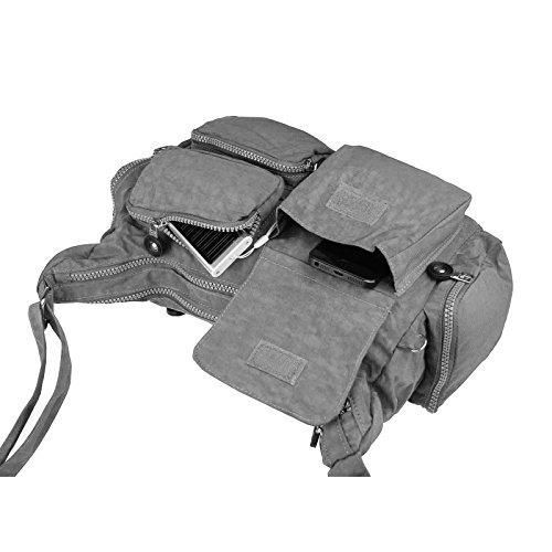 OBC Unisex erw. Donna & bambini Borsa Tessuto Borsa a tracolla casual SHOPPER Crossover Borsa a tracolla - marrone scuro 39x23x9 cm ROSSO 33x23x14 cm
