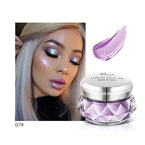 Palette fard à paupières,LHWY fard à paupière palette 8 couleurs surligneur gelée gelée de maquillage correcteur shimmer visage lueur fard à paupières hig
