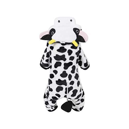 POPETPOP Pet Milchkuh Kostüm mit Hut Lustiger Hund Winter Kostüm Cosplay Outfits Warme Kleidung Hoodie Mäntel Bekleidung für Welpen Hund Große Hund Katze Größe ()