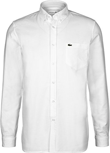 Lacoste Sport Oxford Langarmhemd Weiß