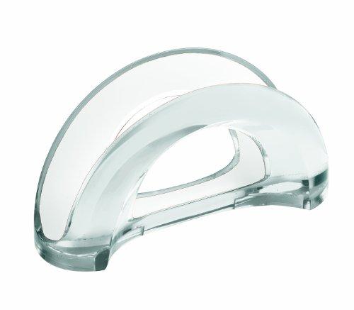 Guzzini mirage portatovaglioli verticale, plastica, trasparente, 7.2x18.4x9.6 cm