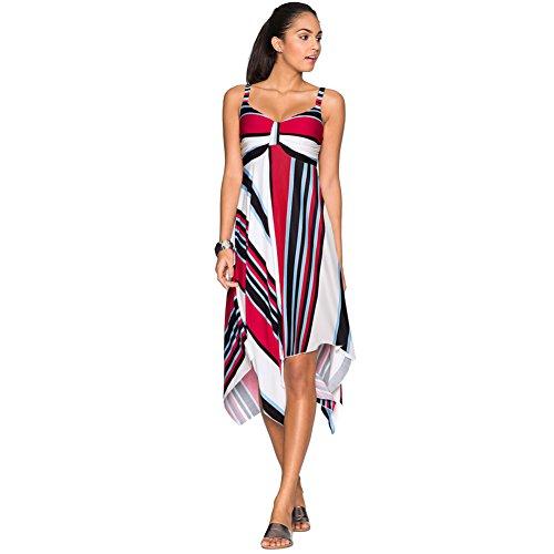 Le donne sexy di estate con scollo a V elastica irregolare Hem Backless Vestito estivo