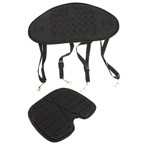 Komfort Rückenlehne Rückenpolste Sitzstütze für Kajak Kanu Fischerboot Schwarz mit Tasche