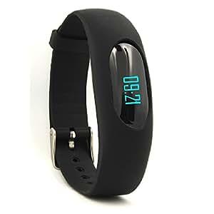 Armband Fitness, YAMAY® Schrittzähler Intelligente Armband Fitness Activity Tracker nicht Bluetooth mit Datumsanzeige und jetzt/Schrittzähler/Kalorienzähler/Berechnung der Entfernung/Zeit Sport/Schlaf Monitor, schwarz