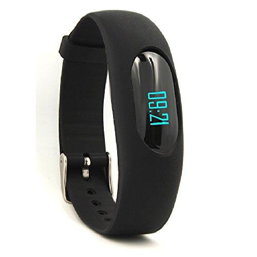 Non Bluetooth Pedometro,YAMAY® Bracciale Fitness Orologio Contapassi Fitness Tracker con Visualizzazione Data e Ora / Conta Passi / Conta Calorie / Calcolo della Distanza /Tempo Sport / Monitoraggio Sonno (Nero)