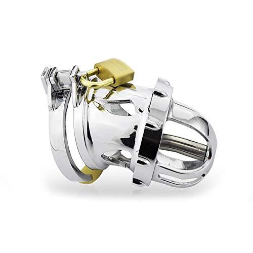 FENXIMEI Männliche Anti-Off-Set Keuschheitskäfig Titanium Alloy Plated Umweltfreundliche Chrome Belt Metall Edelstahl Keuschheit JJ Lock (Size : 52mm Ring) -