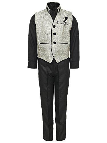 AJ Dezines Kids Party Wear Suit Set for Boys (609_FAWN_3)