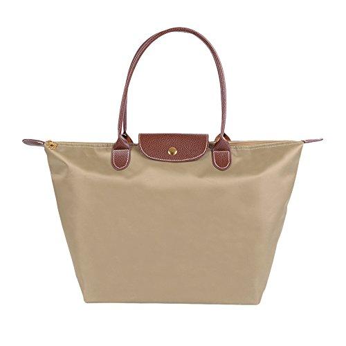 Fletion Nylon Wasserdichte Damen Handtasche Schulterhandtaschen Schulter Faltbare Einkaufstüten Reisetasche - Damen-schulter-laptop-tasche