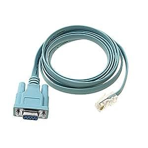 RJ45 à DB9 femelle bleu Cisco Compatible câble de la console