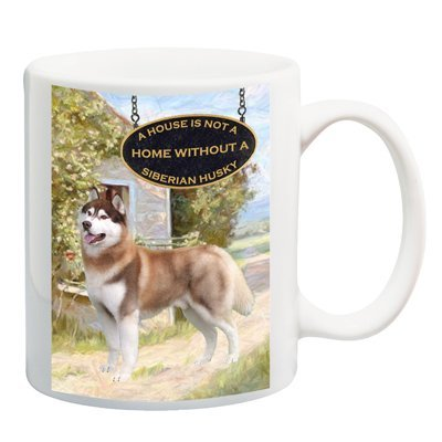 Siberian Husky A House Is Not A Home Coffee Tea Mug 15 oz No 2 by Siberian Husky