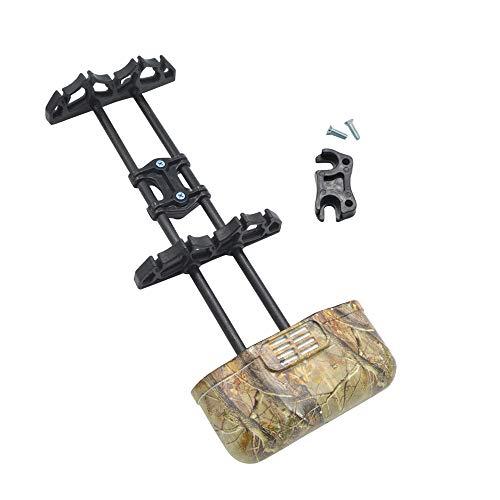 ZSHJG Bogenschießen Pfeilköcher Halter 5 Pfeil Schnellverschluss Pfeil Case Bogen Quick Lock Halterung für Compoundbogen Bogensport Zubehör (Camo) -