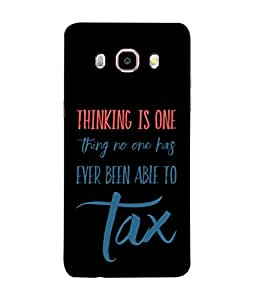 Fuson Designer Back Case Cover for Samsung Galaxy On8 Sm-J710Fn/Df (Tax Taxable Words Quotes Quotations)