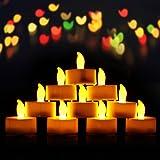 VICTSING Bougies à LED Lot DE 24 Electronique à Pile Bougies à LED Fausses Bougies électriques Mini Bougie avec Lumière Jaune Chaud (Piles Incluses) pour Votive Anniversaire Mariage Fête Noël
