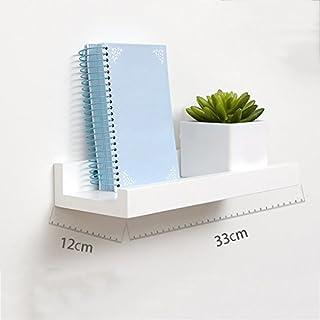 Holz Regal Wandmontage Montage Wandregal Schwimmende Regal TV Wand Rahmen (DIY Montage & Last 10KG) stapel (Farbe : Weiß, größe : 33cm)
