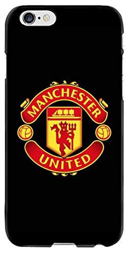 Schutzhülle mit Manchester United F.C.Football Club, kompatibel mit iPhone 6 Plus 6S Plus, iPhone 6 6s Plus, B Black