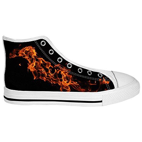 Dalliy feuer feuer Men's Canvas shoes Schuhe Lace-up High-top Sneakers Segeltuchschuhe Leinwand-Schuh-Turnschuhe B