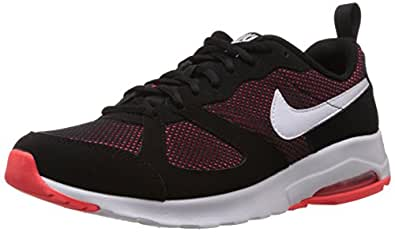Nike Men's Air Max Muse Black,White,Bright Crimson  Running Shoes -8 UK/India (42.5 EU)(9 US)