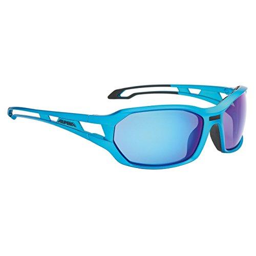 Occhiali da sole Alpina Berryn cm + cornice blu/SW verspieg vetro (Vetro Occhiali)