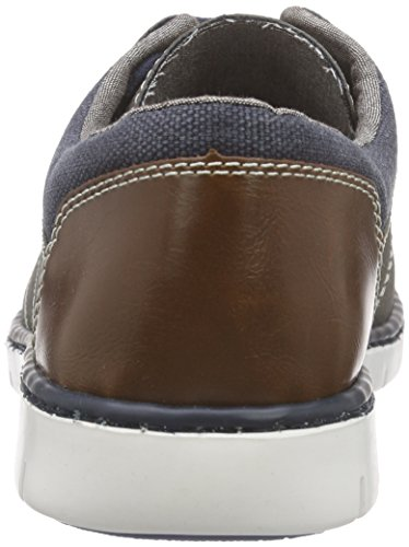 Rieker 17525 Lace-Up-Men, Derby homme Gris - Grau (cement/denim/kastanie / 40)