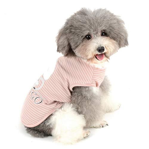 Zunea Hunde-T-Shirts für kleine Hunde Mädchen Jungen gestreift Weste Sommer Tanktop Welpen Kleidung Haustier Katzen Tee Shirt weiche Baumwolle Kleidung Chihuahua Bekleidung - Mädchen-kleidung Kleiner Hund