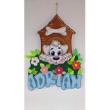 Colgante de pared perro en su caseta