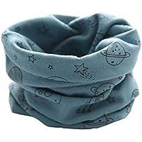 ebf63e93dff Boomly Écharpe d hiver bébé enfant Écharpe en boucle collier chaud Foulards  Écharpe en coton