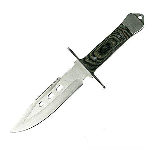 """g8ds® Jagdmesser Outdoormesser Pakkawood Hunter 10,5\"""" inkl. Etui und Gürtelhalter"""