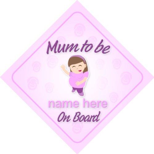 Mum to Be On Board personnalisé Voiture Panneau Nouveau bébé/maternité Cadeau/cadeau