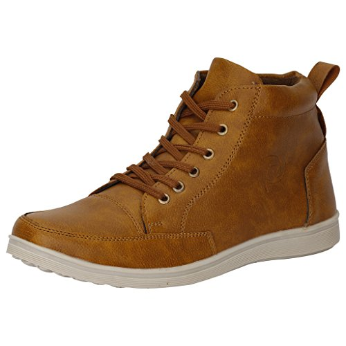 Kraasa Men'S Tan Sneaker-10