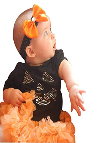 Baby Bekleidungssets 3 Stücke Neugeborene Jungen Mädchen Tütü Strampler Overall Tops Beinwärmer mit Stirnband Romper Outfits Halloween Kostüm Verkleidung Karneval Party von Innerternet
