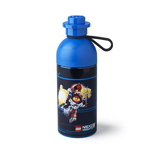 LEGO Nexo Knights Trinkflasche, Wasser/Hydration Flasche, 500 ml, blau (leicht zu befüllen mit Eis), blau