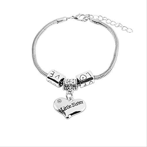 Imagen de tkjj pulsera hot lady hombres hermanas madre padre hermanas charm brand bracelet love bracelet mom best friend gift jewelryls