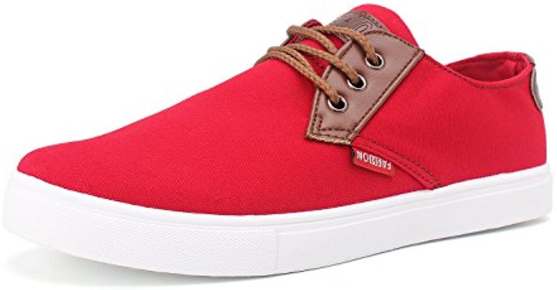 DemonHunter Herren Klassiker Rot Mode Sneaker 4L1126R