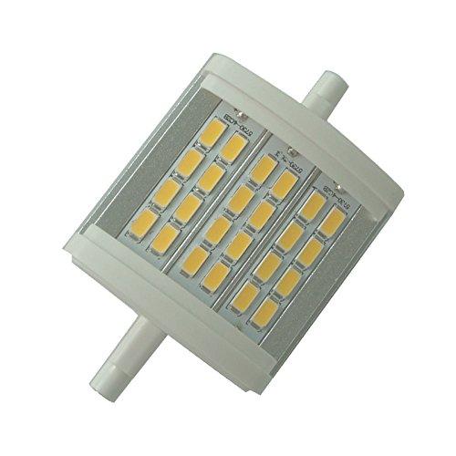 10w Ersatzlampe (QLEE R7S LED-Flutlicht, 78 mm, 7,1 cm, dimmbar, 10 W, warmes Licht, 3000 K AC, 230 V, 1000 lm, doppelseitig, J LED-Flutlicht für 100 W Halogen-Ersatzlampe)
